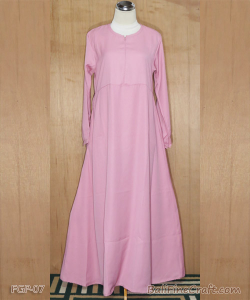 FAP Gamis Polos Dusty Pink 07